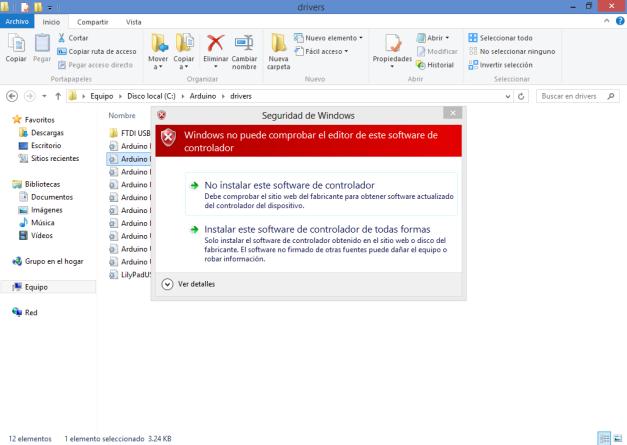 Instalar Arduino en Windows 8