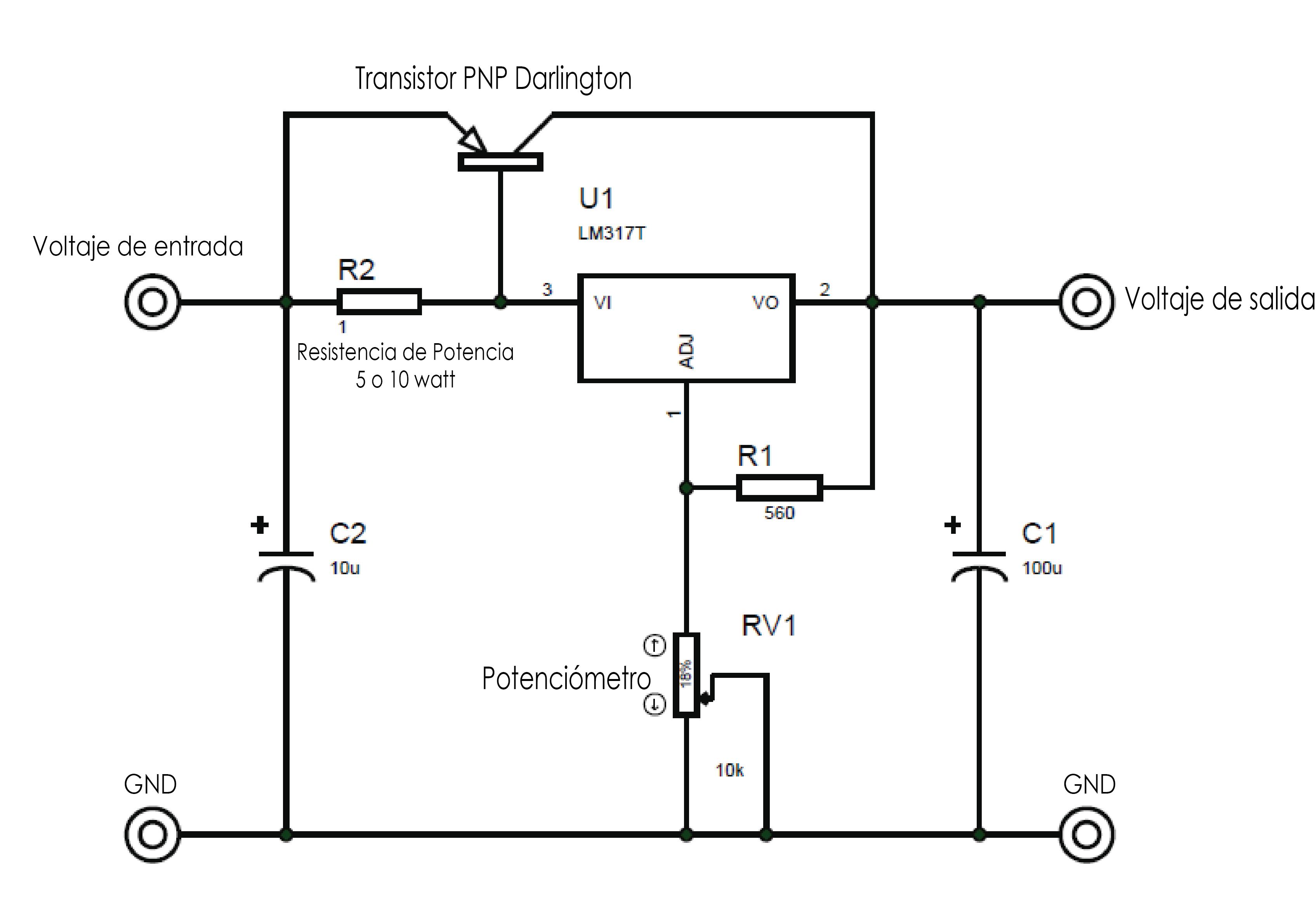 LM317 Bypass Transistorizado